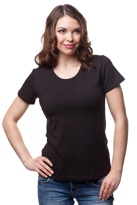 Женская футболка стандарт с U — образным вырезом