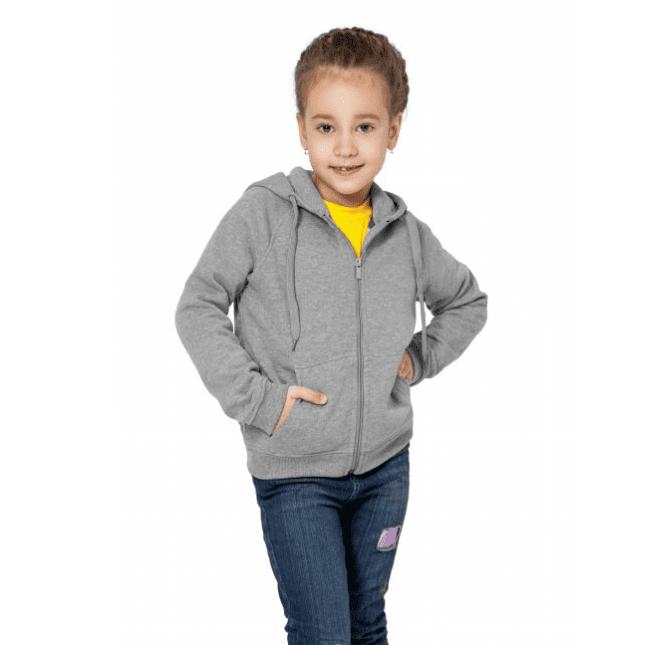Толстовка на молнии с капюшоном детская