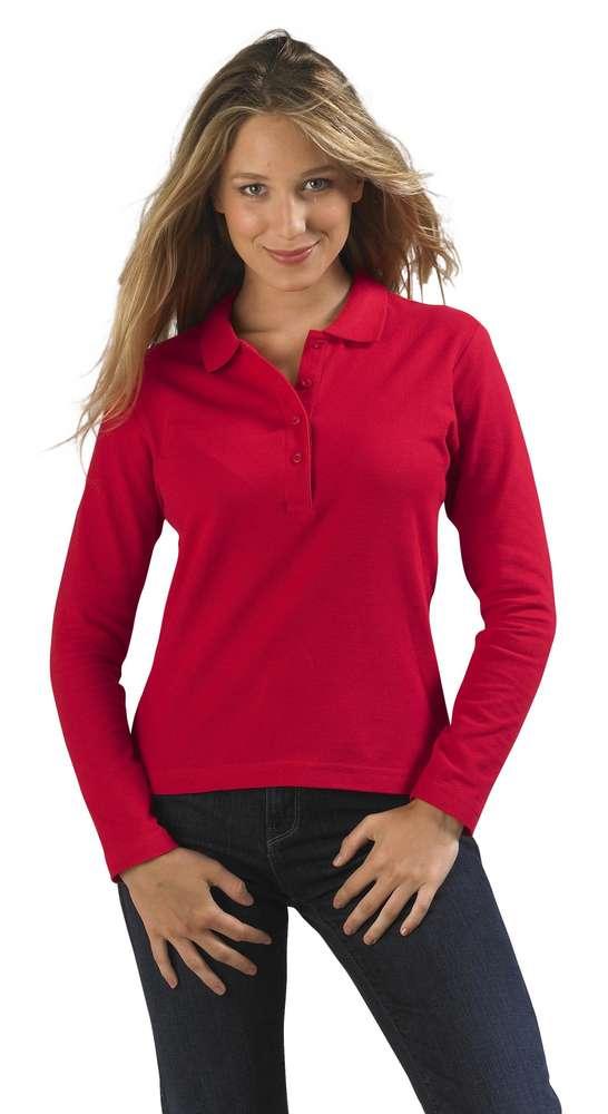 Рубашка поло женская с длинным рукавом
