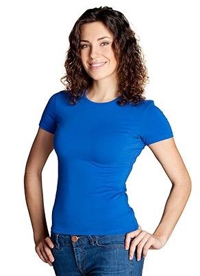 Женская футболка премиум с U — образным вырезом, цвет Белый