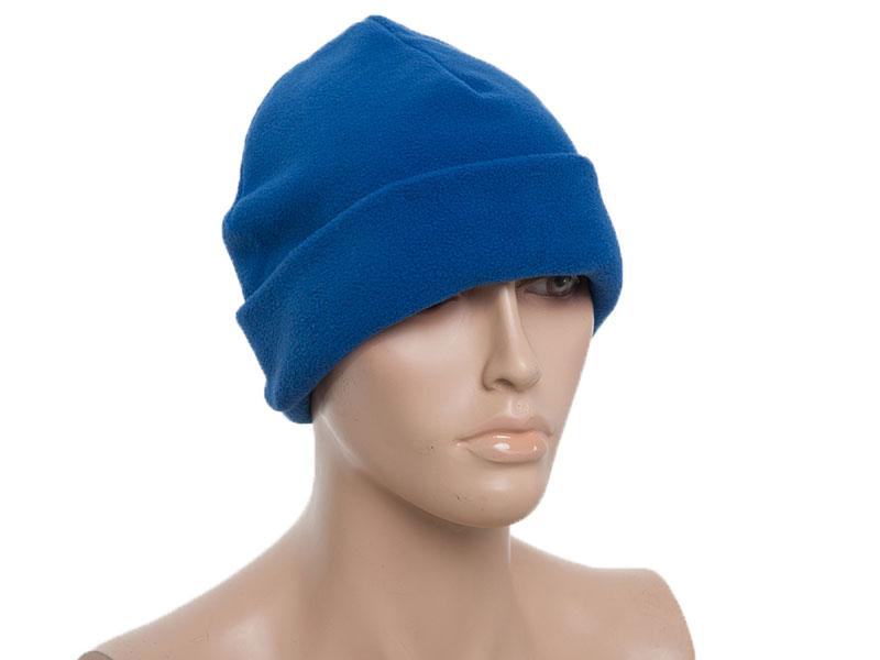 Флисовая шапка с подгибом