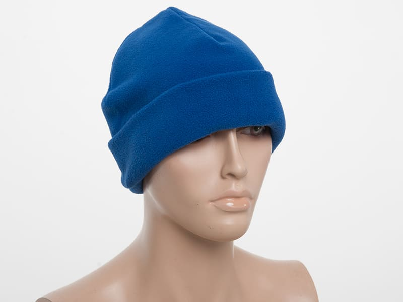 Флисовая шапка с подгибом, цвет Белый