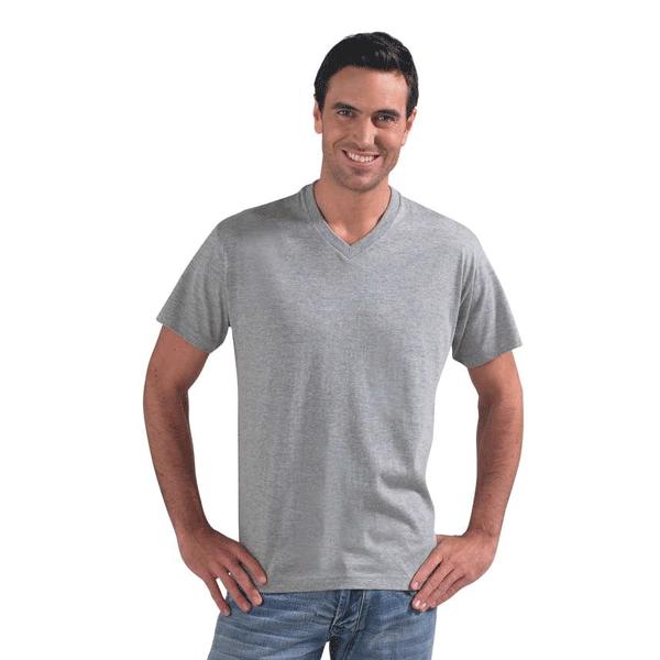 Мужская футболка с V — образным вырезом, цвет Белый