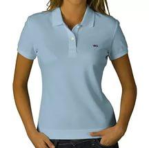 Рубашка поло женская с коротким рукавом, цвет Белый