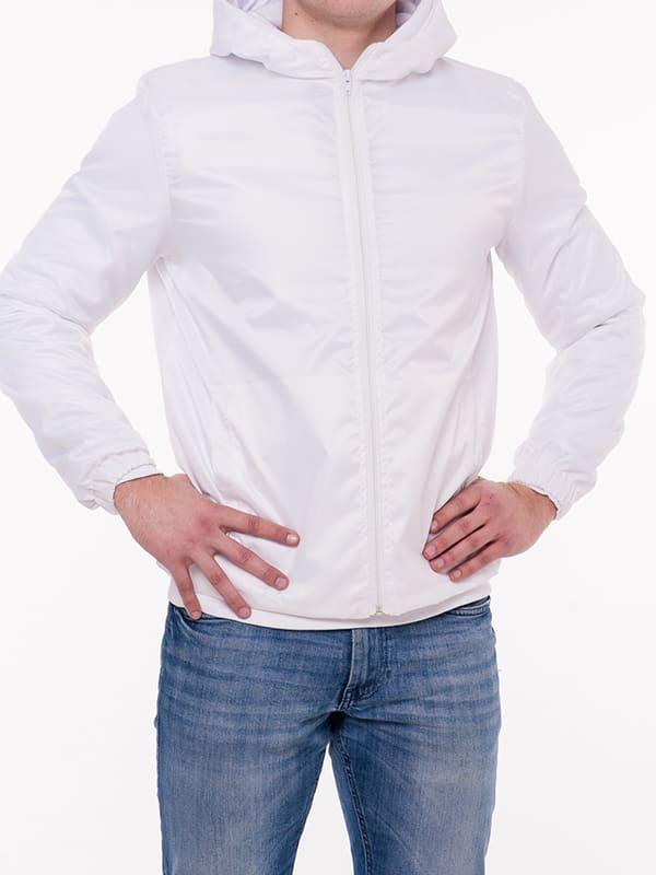 Классическая промо ветровка, цвет Белый